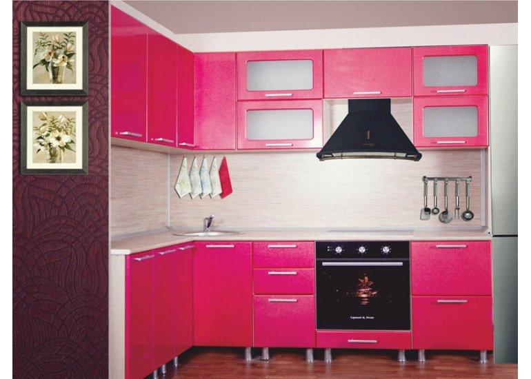 Кухня Модерн Малина 2300 мм * 1500 мм