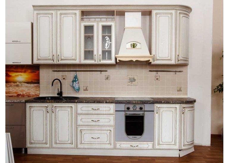 Кухня Анжелика ясень 1520х2720 мм