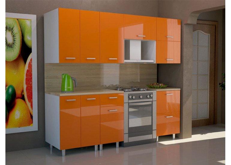 Кухня Модерн Оранж металлик  2300 мм