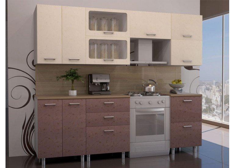 Кухня Модерн Лаванда на 2 300 мм столешница Тростник 28 мм