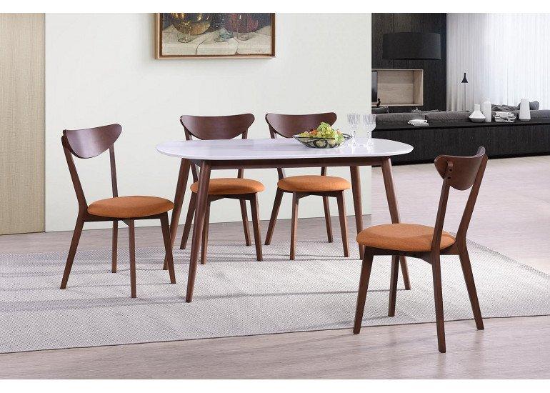 Стол обеденный раскладной «Боско» (Bosco Brown) (коричневый+белый)