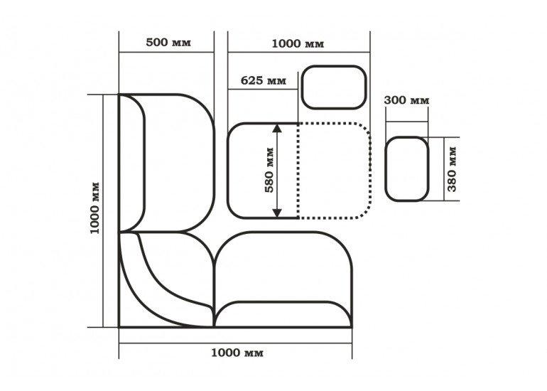 Кухонный уголок Тюльпан - мини ТЭ 109-101