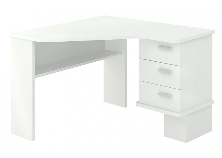 Стол компьютерный Белый СД-45С БЕ-ПРАВ