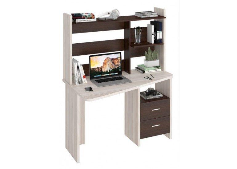 Стол компьютерный Карамель/Венге СКЛ-Трап120+НКЛ-120 КВ ПРАВ